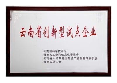 云南省创新型试点企业